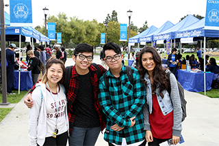 Photo showing smiling students