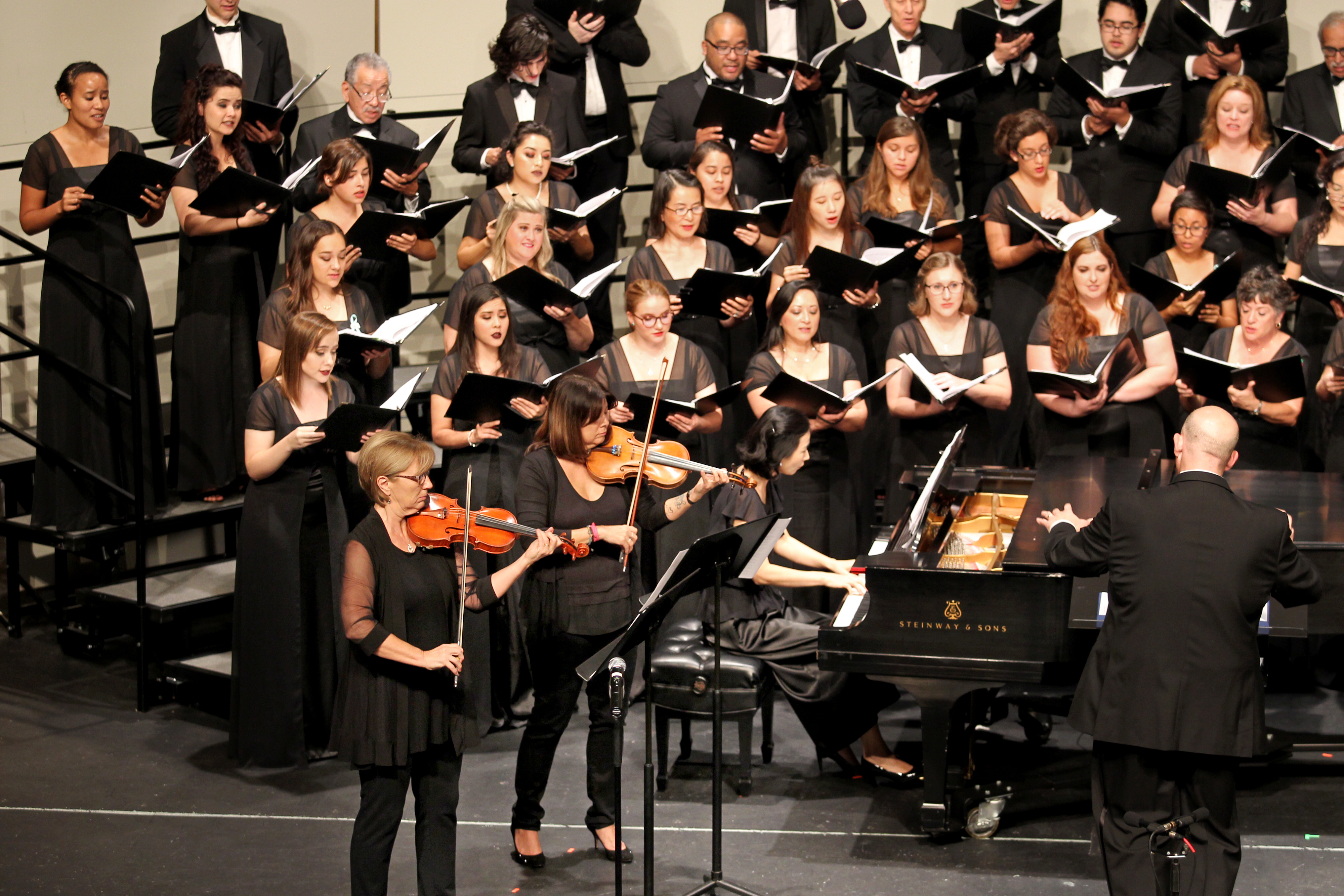 Photo showing music students